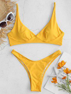 ZAFUL Plunge Bralette Bikini Set - Helles Gelb M