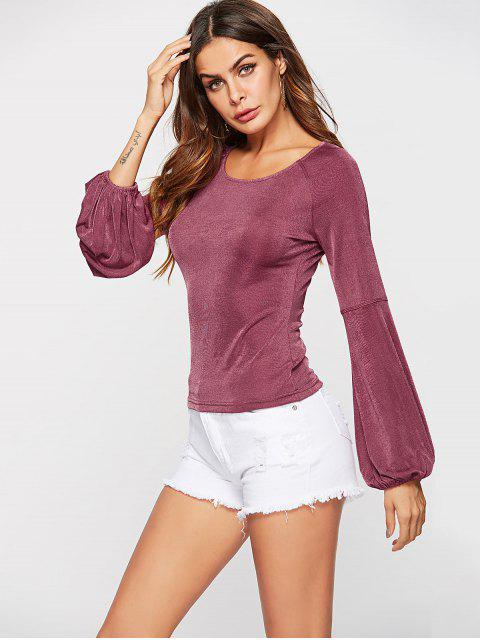 ZAFUL T-shirt à Manches Longues - Rose Timide S Mobile