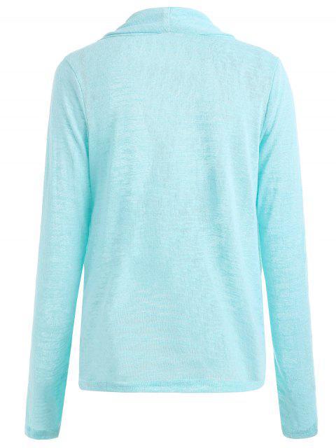Cross Drape Wrap Sweater - Azure S Mobile