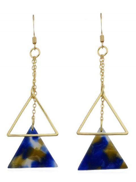 Doble triángulo largo cuelga los pendientes - Multicolor-B  Mobile