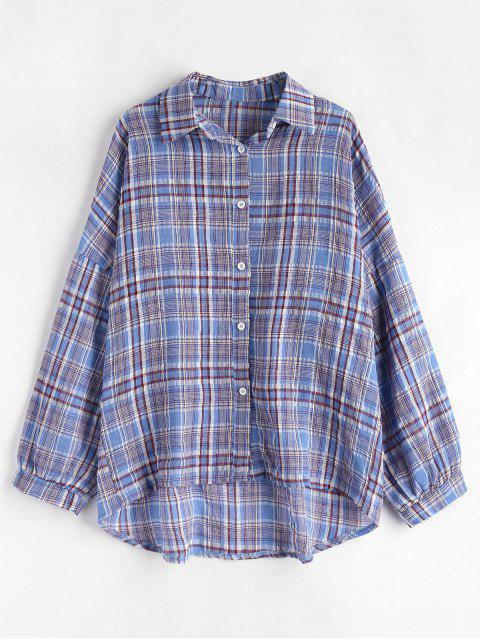 unique Checked Oversized Shirt - MULTI ONE SIZE Mobile