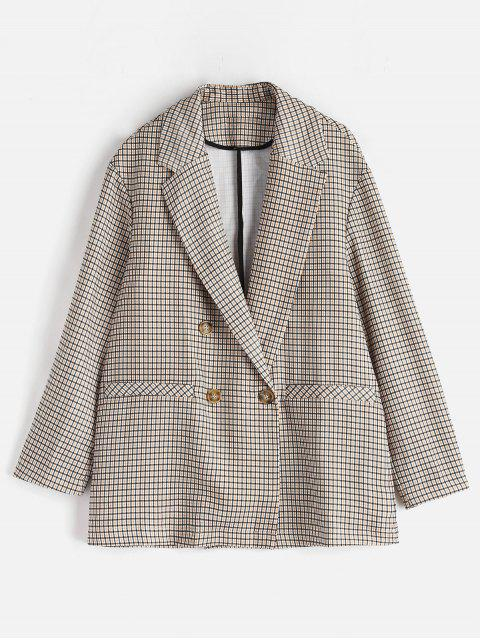 Zweireihiger Plaid Blazer - Multi M Mobile