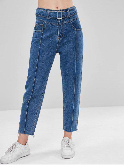 Jeans sin mangas con dobladillo sin rematar - Azul Oscuro de Denim XL Mobile