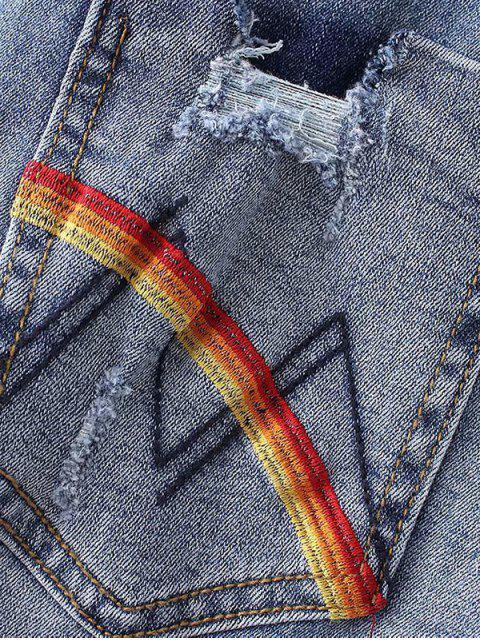 Pantalones rasgados - Azul L Mobile