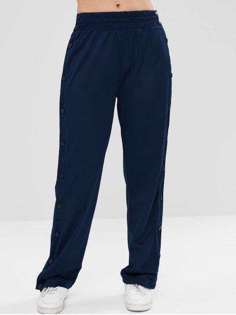 Pantalones deportivos de gimnasio deportivo perforado - Azul Profundo L Mobile