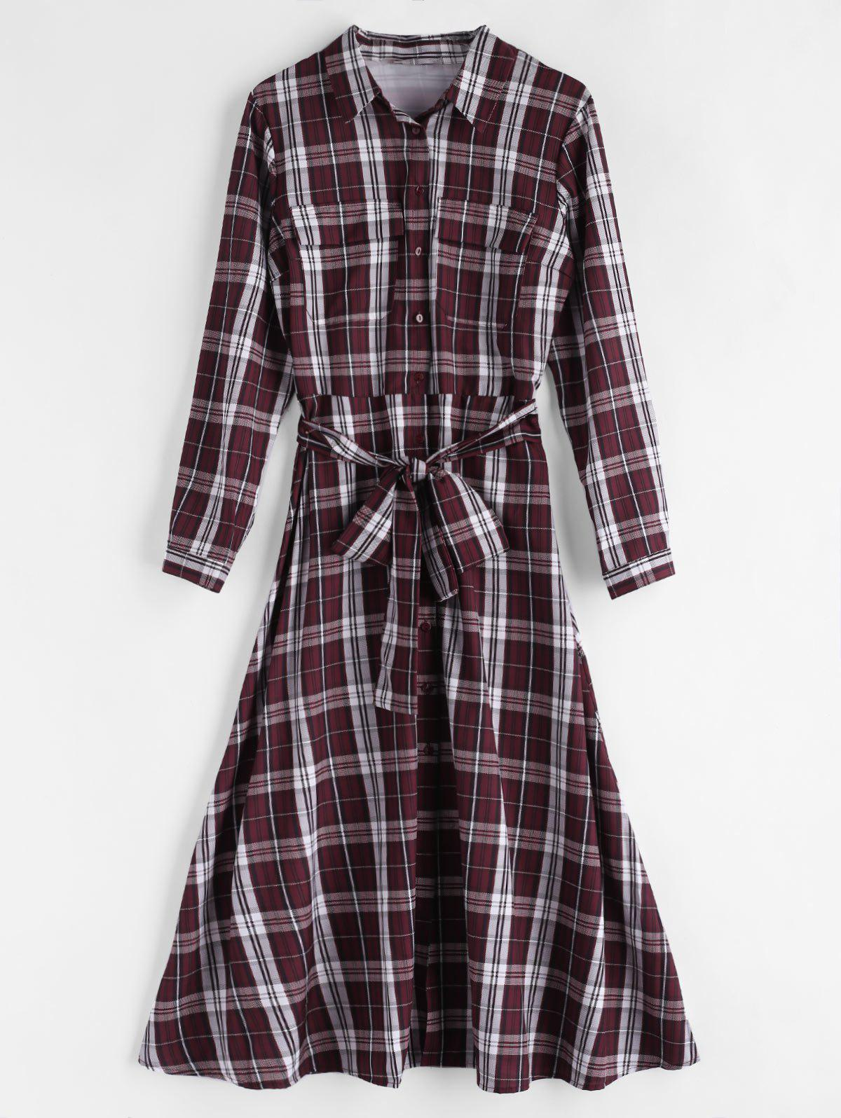 Cintura In Tartan Shirt Dress