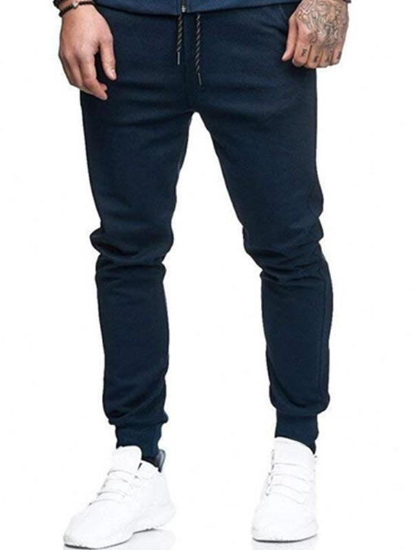 Solid Side Pockets Sports Jogger Pants фото