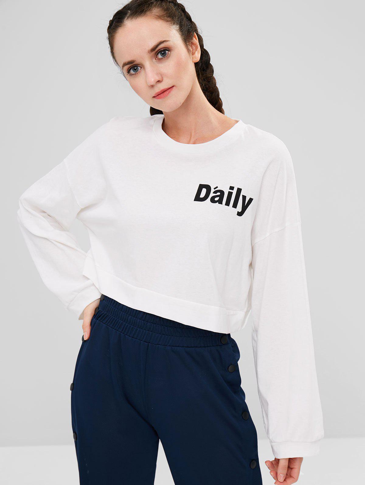 Cropped Graphic Oversized Sweatshirt