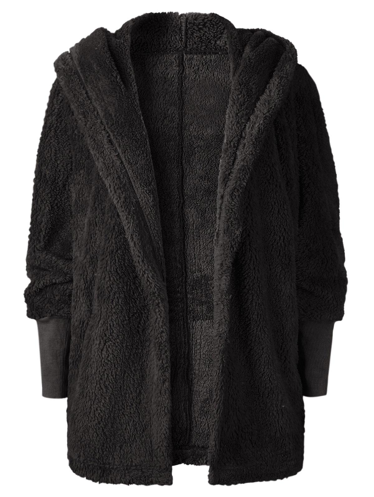 Oversize Open Front Furry Coat thumbnail