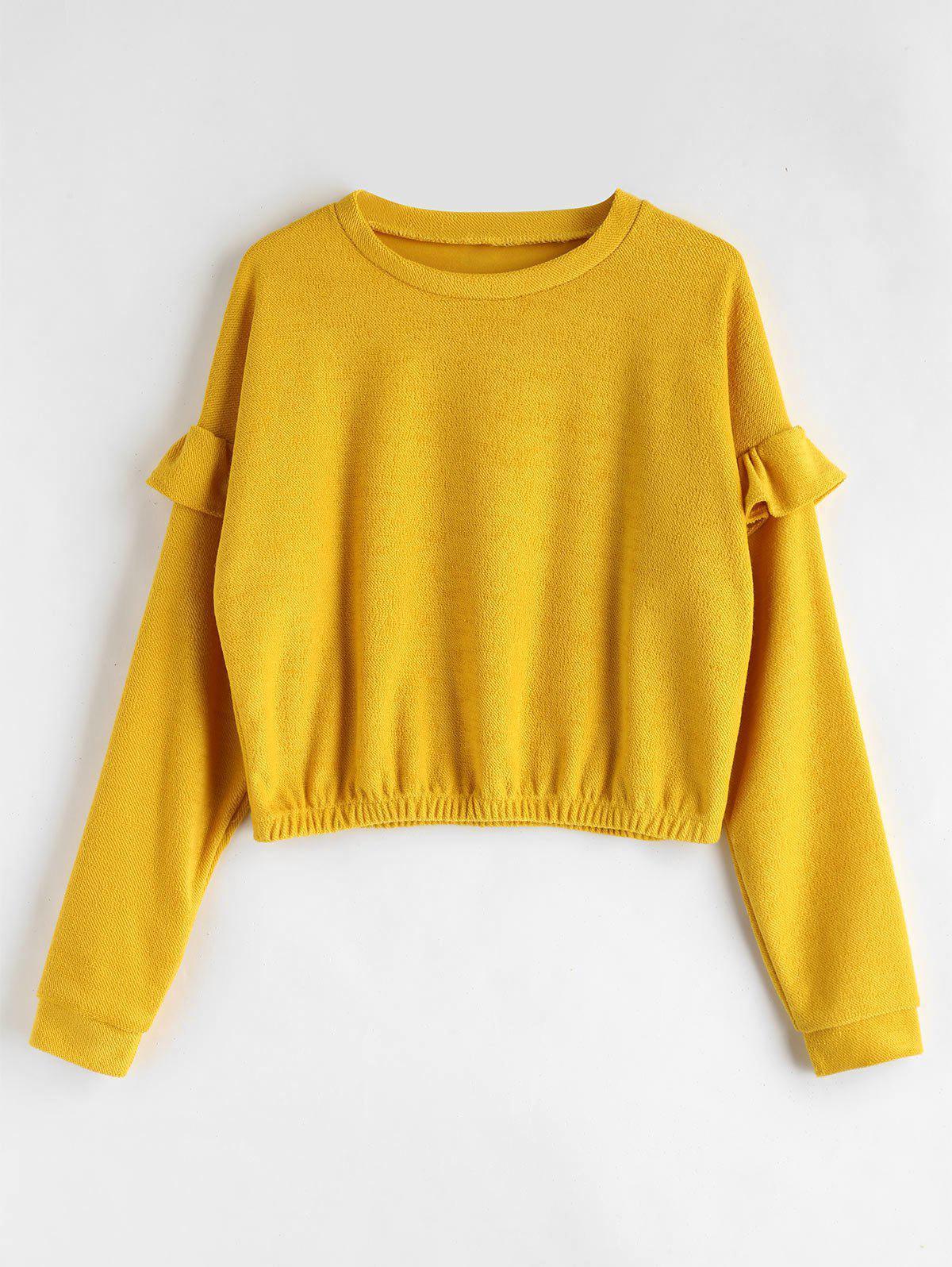 Loose Ruffles Sweatshirt