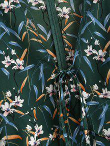 Flores Mar Volantes S Mediana Vestido Con Verde Y Uq4gwt