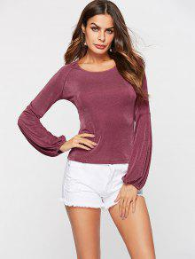 Camiseta Shimmer ZAFUL Rosa Sleeve S Long RqvYxBPY