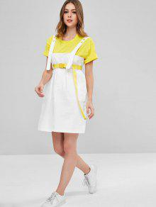9d4f880cac7 Belted Snap Button Pinafore Dress  Belted Snap Button Pinafore Dress ...