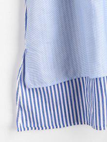 Rayas A Multicolor Camisa L De Vestido Panesl q4177x