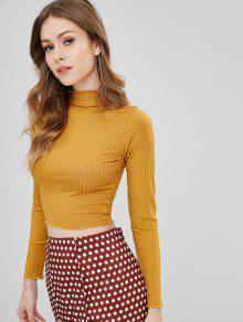 قميص بأكمام طويلة مضلع - نحلة صفراء L