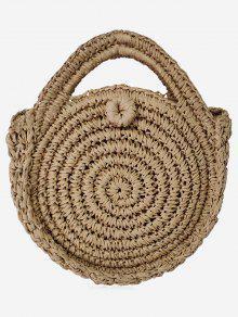 حقيبة كروس سترايب دائرية - قهوة