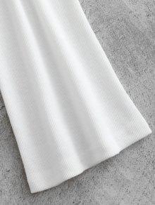 243;n Botones Blanco M A Acanalada Con Presi Blusa fI6nTqB