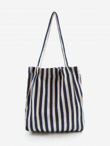 حقيبة كتف مقلمة عمودياً - الأرض الزرقاء