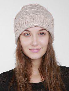الصلبة اللون الجوف خارج قبعة صغيرة - اللون البيج