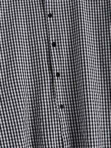Vestido Cuadros Negro Caida A Cintura L Con rr04q