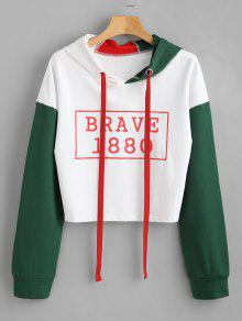 Sudadera Block Con Color De Graphic Capucha M Blanco rfrTa7xOwq