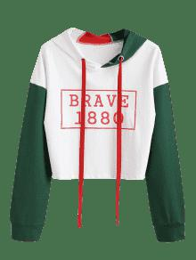 Blanco M Con Block De Capucha Graphic Sudadera Color Z4Y0nZ