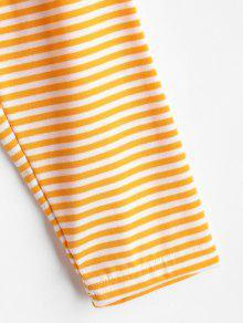 Rayas Abeja Camiseta Con S V De Cuello En A Amarilla UqXqxaZ8H