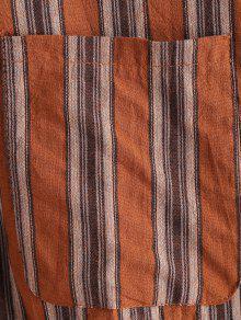 Rayas De A Multicolor Extragrande Camisa Bolsillo Con Parche TnOqwg