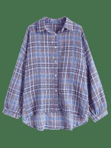 Gran De Cuadros A Multicolor Camisa o Tama 7vqxwRRO
