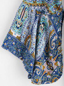 Con Estampado L Bohemio Floral Vestido Multicolor OzUAqn