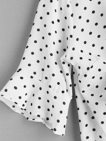 De El Frente Con Blusa Blanco 243;n Cord En Xl Lunares Yd7wPpq
