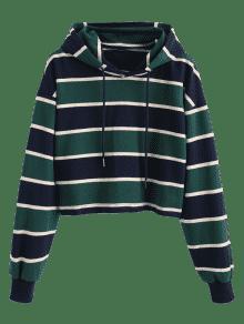 Crop Multi Hoodie S ZAFUL Stripe qCtf55