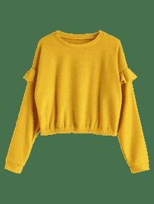 Amarillo Sueltos Volantes Sudadera M Brillante Con H8qEEr5wxt