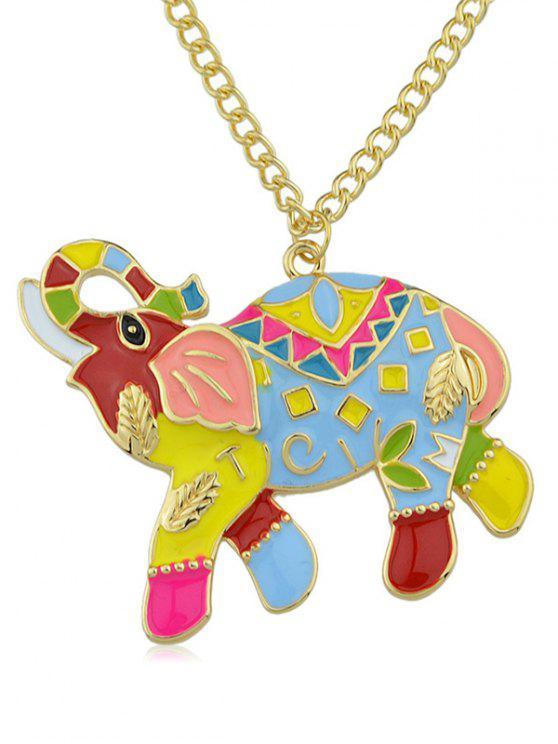 Collier chaîne mascotte éléphant - Or