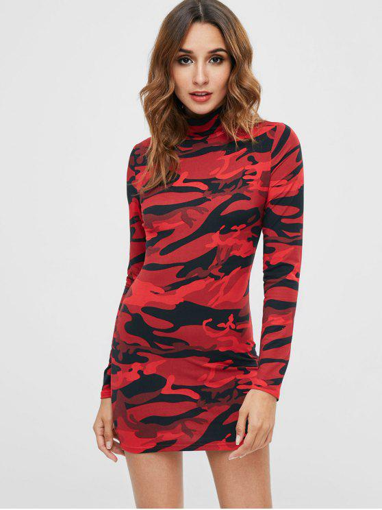4a5e3dd2af 31% OFF  2019 Camo Long Sleeve Short Dress In MULTI M