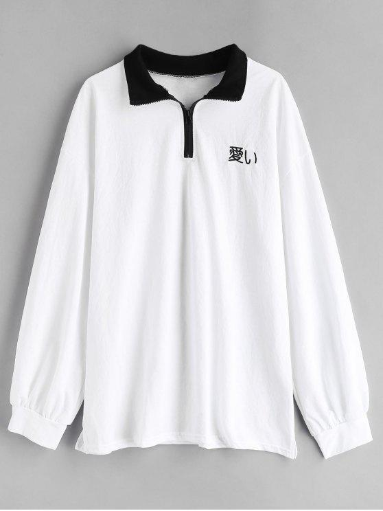 women's Embroidered Shirt - WHITE ONE SIZE