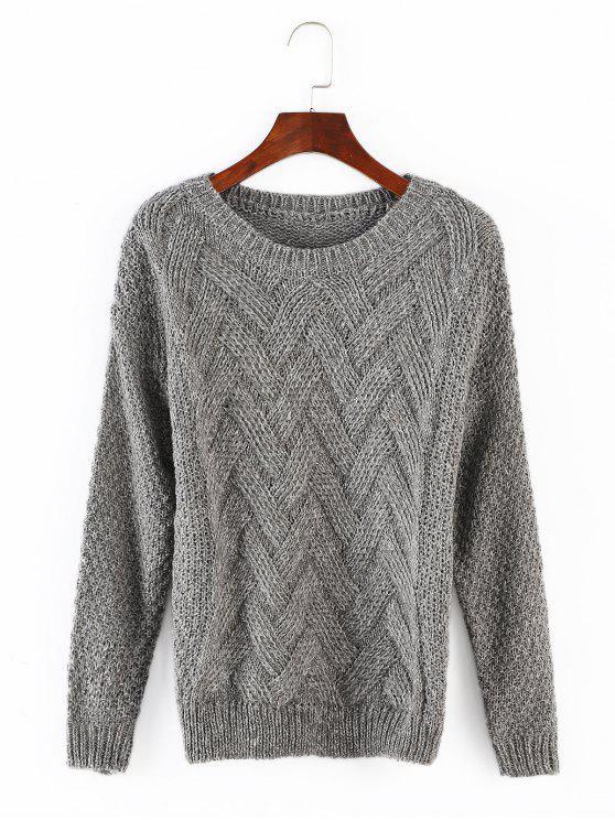 Короткие вязаные свитера - Серый Один размер