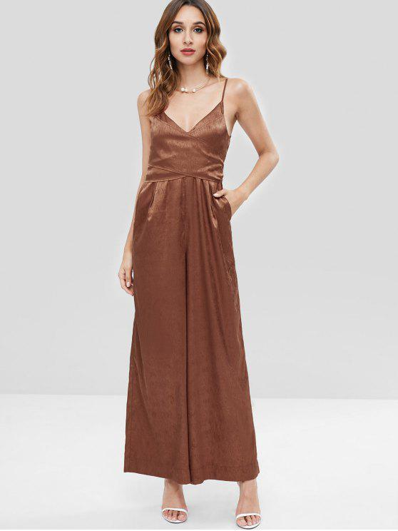 autumn shoes big collection pretty nice ZAFUL Cami Wide Leg Jumpsuit
