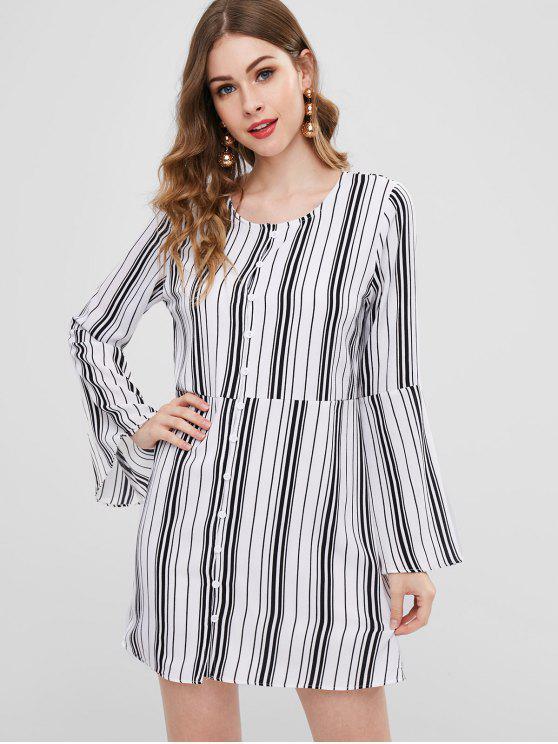 ladies ZAFUL Striped Mini Dress - MULTI S
