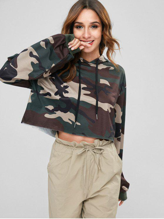 new ZAFUL Camouflage Cropped Hoodie - ACU CAMOUFLAGE L