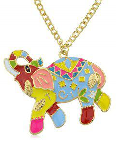 Mascot Elephant Chain Necklace - Gold