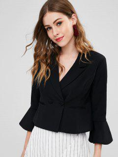 Welt Pocket Bell Sleeve Blazer - Black Xl