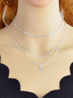 Simple Style Alloy Layer Necklace - Silver