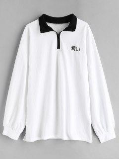 Besticktes Polo-Shirt - Weiß