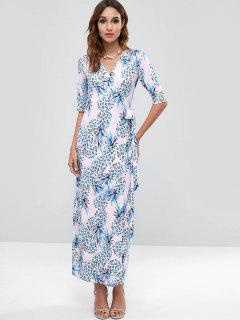 Pineapple Wrap Maxi Dress - Multi Xl