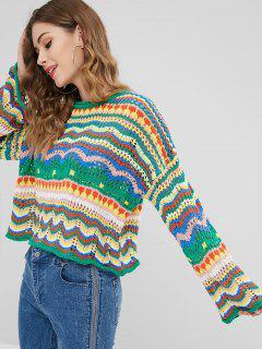 Suéter De Punto Multicolor Flojo - Multicolor