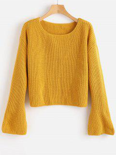 Suéter De Manga Larga De Campana - Amarillo Brillante M
