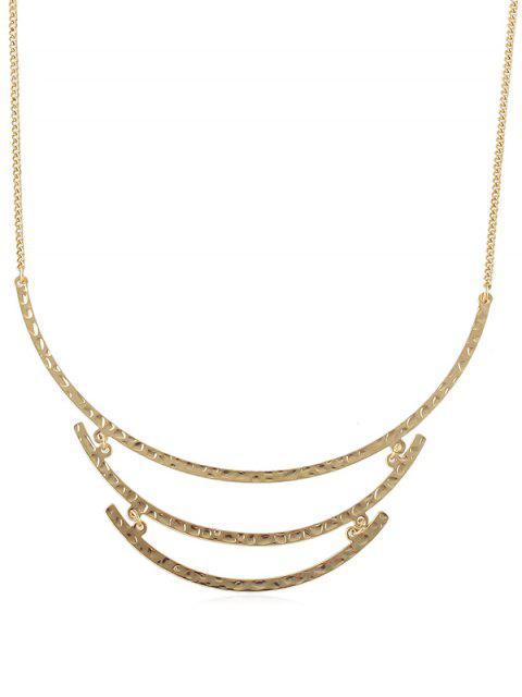 Einfache gebogene Streifenkette Halskette - Gold  Mobile