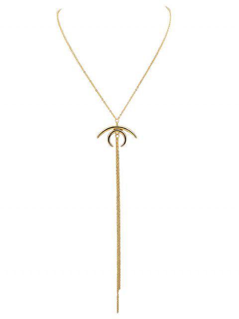Crescent Moon Kettenanhänger Halskette - Gold  Mobile