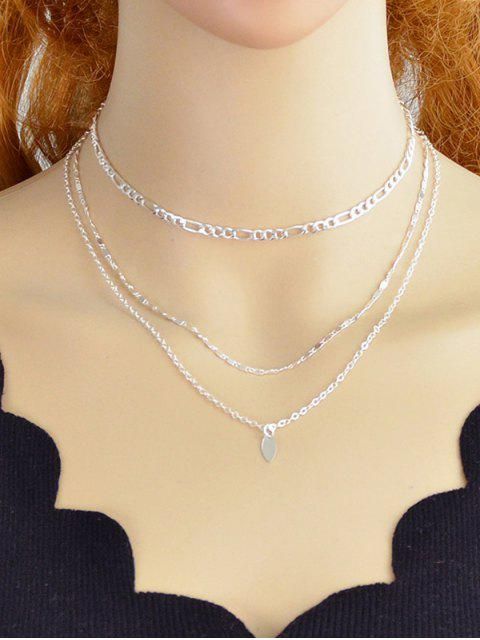 latest Simple Style Alloy Layer Necklace - SILVER  Mobile